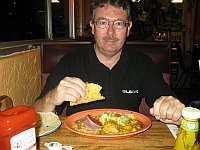 USA - Albuquerque NM - Garcia's Cafe Mixed New Mexican Meal (24 Apr 2009)